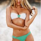 Free Shipping Sexy Women's Swimsuit Swimwear Beachwear Bikini Set green heart