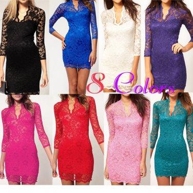 LITTLE black dress party evening elegant Mini Lace Dress clubbing elegant