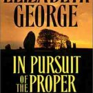 Elizabeth George In Pursuit of the Proper Sinner Audiobook Cassette