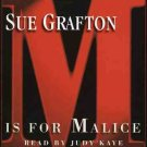 Sue Grafton M Is For Malice: A Kinsey Milhone Mystery Audiobook Cassette