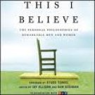 This I Believe Audiobook CD