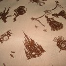 Cinderella on Brown - Fabric Fat Quarter