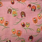 Winking Owls on Pink - Japanese Fabric Fat Quarter