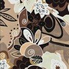 Retro Flowery Leaves - Cotton Lycra Fabric Fat Quarter