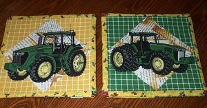 John Deere Potholders  Deer Dear with Decorative Back Handmade 611205-2