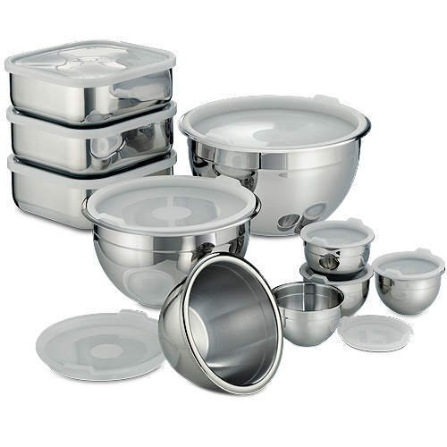 20 Pc. Stainless Prep & Storage Bowls