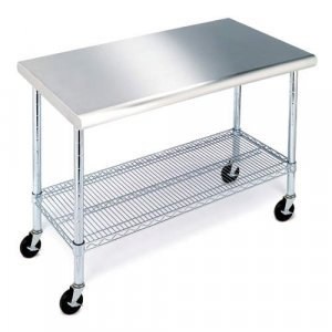 """Seville Commercial Work Table with Stainless Steel Top (49"""")"""