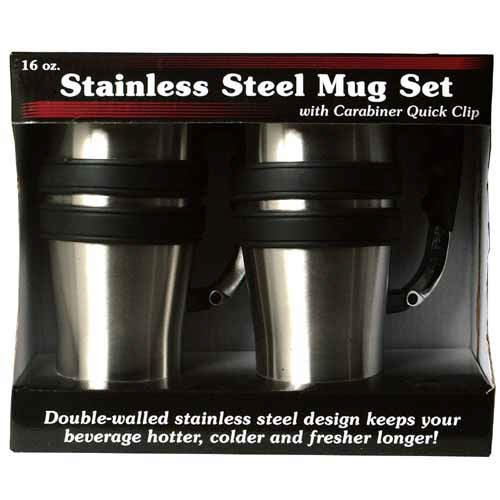 Stainless Steel Travel Mug Set (2 pack)