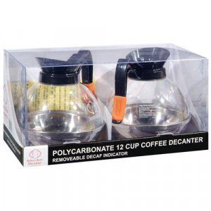 12 Cup Polycarbonate coffee Decanter - 64 oz. (2 pack)