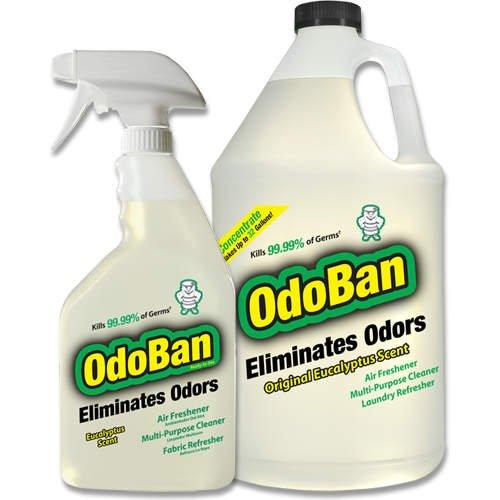 OdoBan -Sanitizer, Air Freshner, & Odor Eliminator, 2 Pack (128 oz. jug & 24 oz. spray bottle)