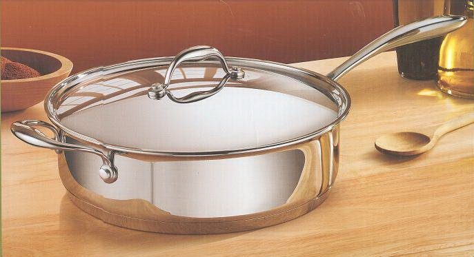Tramontina Premium 5 qt Covered Deep Saute Pan - 18/10 Stainless Steel