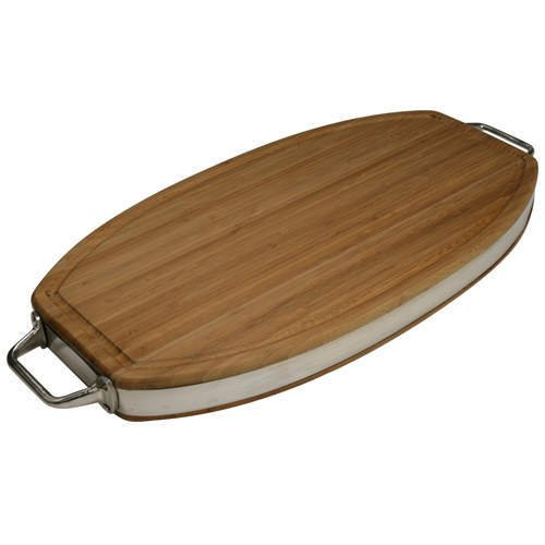 Solid Bamboo Chop Block  ( Oval )