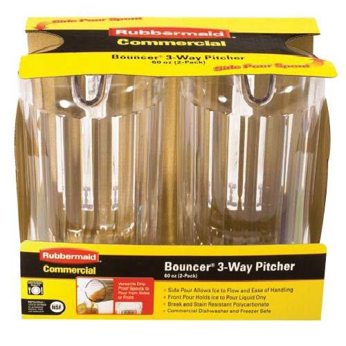 Rubbermaid® Bouncer 3-Way Pitcher (60oz., 2 Pk.)