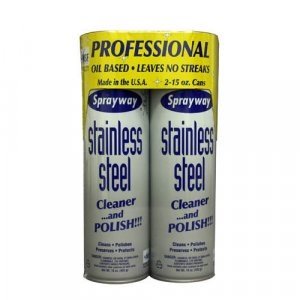 Sprayway Stainless Steel Cleaner (2 - 15oz cans)