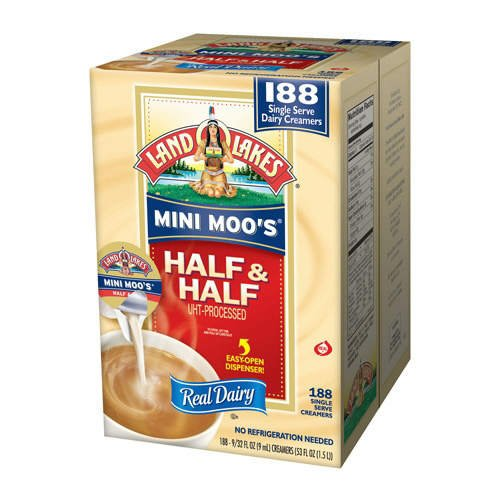 land o lakes singles Land o lakes liquid creamer singles, carton of 192 9/32oz no refrigeration needed use real half & half with your office coffee service each container contains 9/32oz 9ml of ultra.