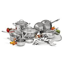 Wolfgang Puck 18 pc. Stainless Steel Cookware Set