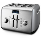 KitchenAid® 4-Slice Metal Toaster w/ LCD Display  (Contour Silver)