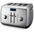 KitchenAid® 4-Slice Metal Toaster w/ LCD Display  (Contour Silver)
