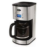 Oster - 12-Cup Programmable Coffee Maker  ( Stainless Steel )