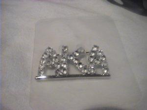 NEW AKA Alpha Kappa Alpha Silver Rhinestone Sorority Pin