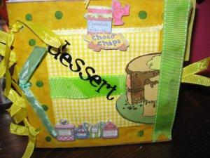 "Premade Paperbag 6"" x 6"" Dessert  Recipe Scrapbook"