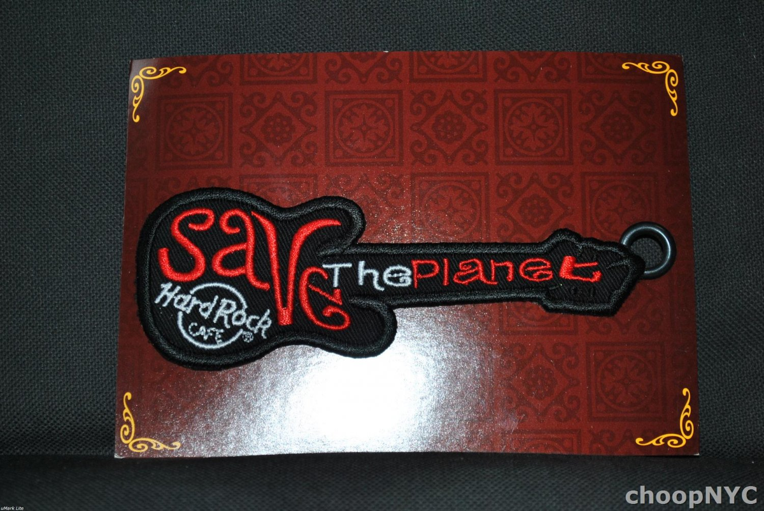 "Hard Rock Cafe ""SAVE THE PLANET"" Iron On Patch Badge"