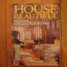 House Beautiful FEB 1983 Decorating with Sheets Kitchen