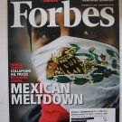 Forbes Magazine Dec 2008 Mexico Detroit Meda NBA & Art