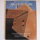 April 1988 Architectural Digest Architecture issue
