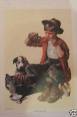 Norman Rockwell lithograph repro Practicing Intern