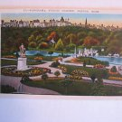 vintage Panorama Public Garden Boston, Mass card