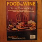 Food & Wine magazine November 1998 Classic Thanksgiving