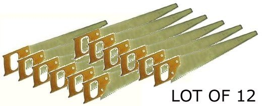 Wholesale Lot of 12 -- 24'' Hand Saws with Wood Handles