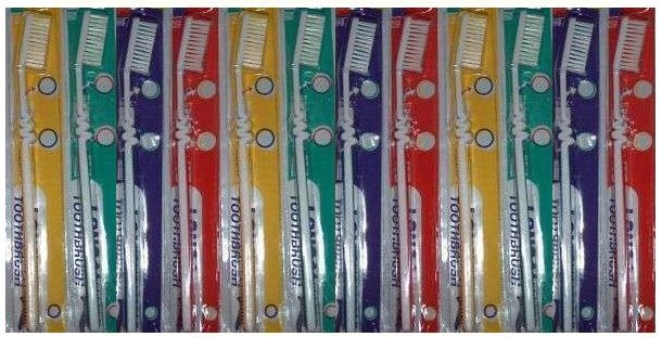 Lot of 12 Toothbrushes - New - Retail Packaging! 1 DOZEN! Flat Rate Shipping!