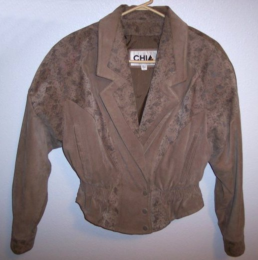 Nice Womens Size Large Chia Tan 100% Genuine Leather Jacket