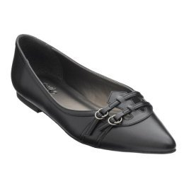 CLEARANCE - 75% OFF - Mossimo® Dionne Pointed-Toe Flats - Black - Size 6