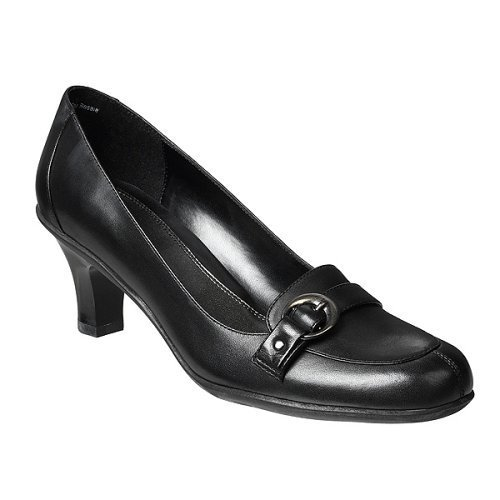 CLEARANCE - 50% OFF - Merona® Alma Mid-Heel Loafers - Black - Size 11