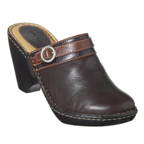 CLEARANCE - 70% OFF - Cherokee® Betsie Wedge Clogs - Brown - Size 7½