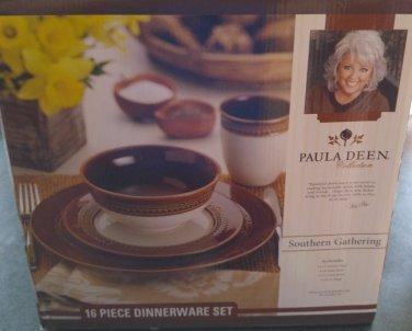 NEW Paula Deen 16pc Dinnerware Set