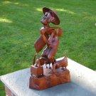 "Vintage Indonesia Bali Wood Sculpture Carving ""Duckman"""