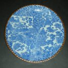 20thc Japanese Igezara Blue White Plate Flower Blossom (10&quot;)