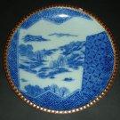 "20thc Japanese Igezara Blue White Plate Scenery (10"")"