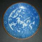 "20thc Japanese Igezara Blue White Plate Phoenix (9-7/10"")"