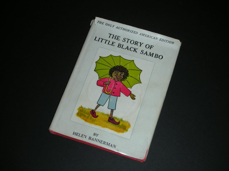 Vintage Story of Little Black Sambo Lippincott Red Cover DJHC