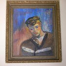 "Original Oil Painting Art Work by FRAN UDELL Signed - ""The Reader"""