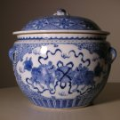 20thc Chinese Blue White Porcelain Food Ginger Jar