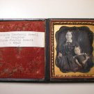 Antique Daguerreotype Photograph of a Mother and Daughter (Newell Family)