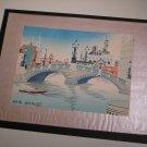 "Vintage Japanese Woodblock Print by TOMIKICHIRO TOKURIKI - ""Nihongbashi"""
