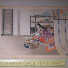 Antique Japanese Kuchi-e Woodblock Lady Print by MIZUNO TOSHIKATA