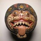 20thc Asian Oriental Wood Carved Foo Dog Lion Censer Holder